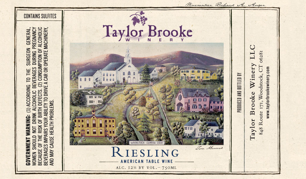 Taylor Brooke Riesling wine label