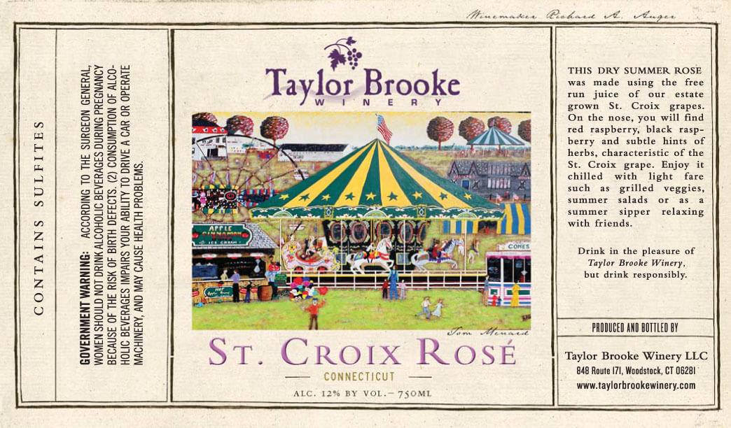 st croix rose wine label