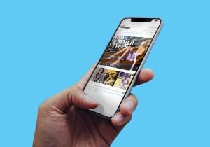 Ballantynes Website Design iPhoneX