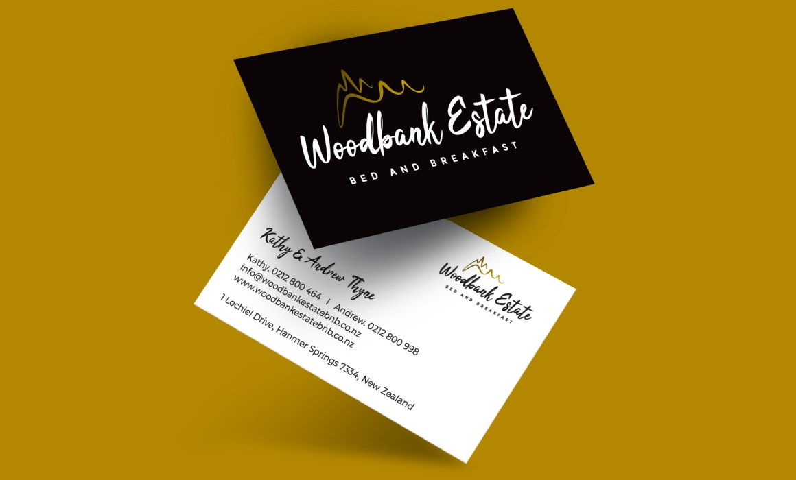 Woodbank Estate Bed and Breakfast Business Card
