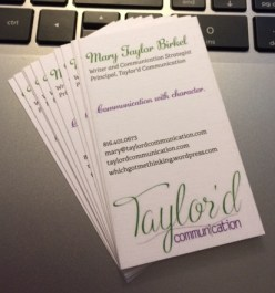 Business cards front