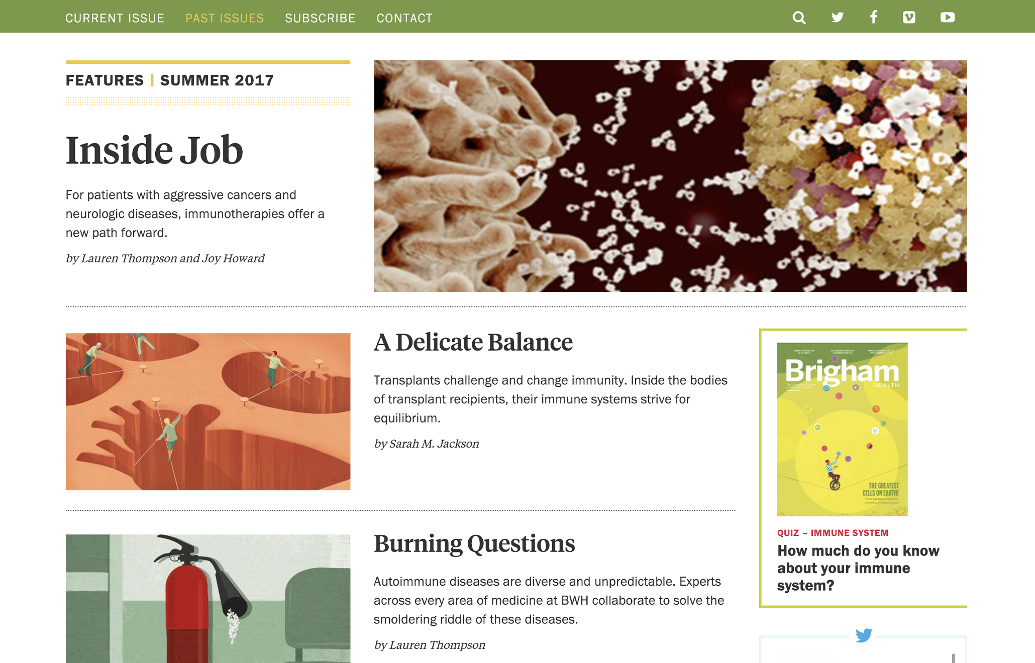 Brigham Health Magazine - Website Design CT | Taylor Design