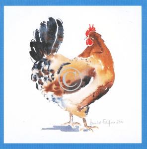 Chicken Print - Curious Hen