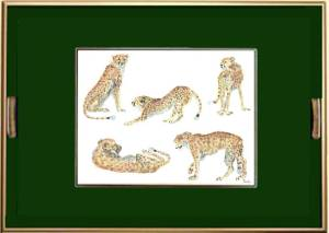 African Animals Cheetah Tray