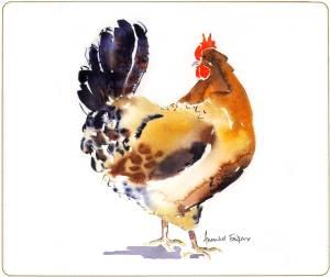 Melamine Placemat Curious Hen