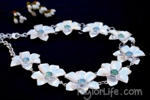Floral Statement necklace - thrift shop find