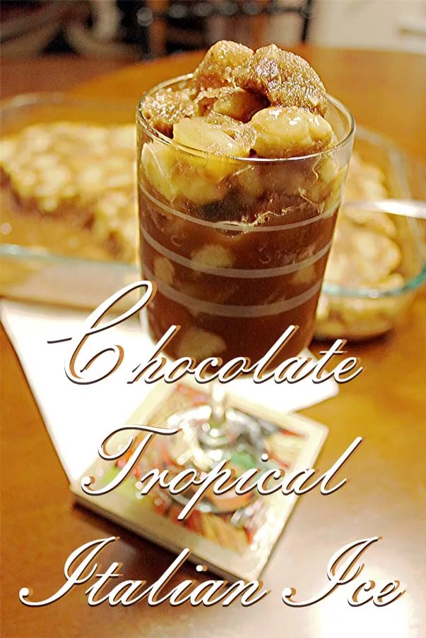 Try this Chocolate Banana Italian Ice recipe the next time you are craving a low-calorie dessert! It's a great cool down for hot summer days. With hints of tropical flavors, you'll be transported to paradise!