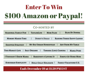 $100 Holiday Giveaway - Paypal or Amazon