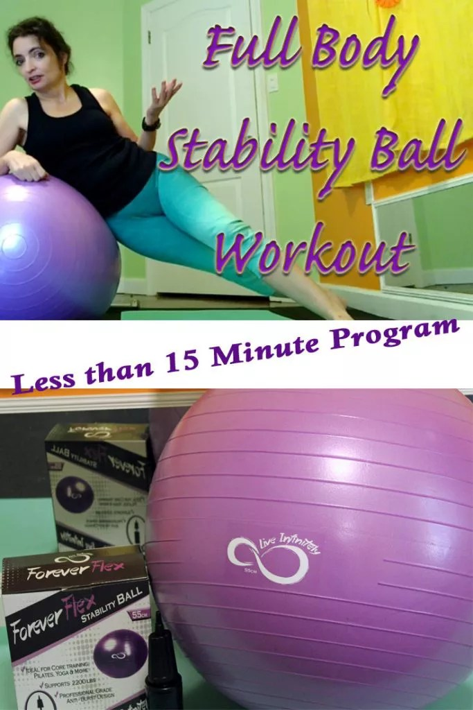 Get a full body workout in under 15 minutes with this quick and dirty stability ball workout.