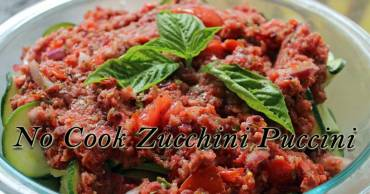 Easy and healthy Puccini Zucchini recipe involves no cooking and is a great way to use up your late summer produce.