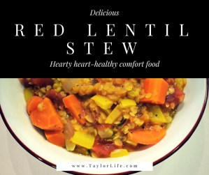 Red Lentil Stew - A Heart-healthy DASH Diet Comfort Food