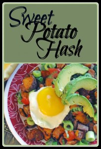 This delicious vegetarian sweet potato hash is a deliciously fast meal! It's full of protein and fiber.