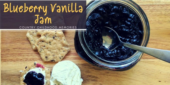 Vanilla Blueberry Jam Recipe and Country Childhood Memories
