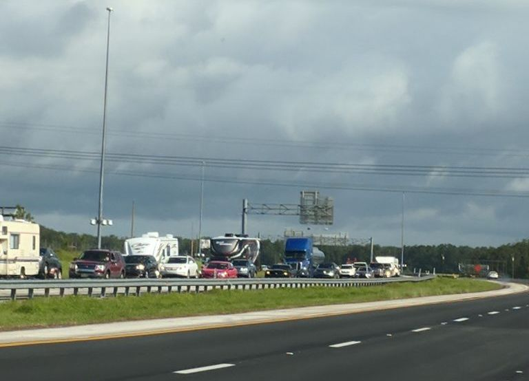 We headed north, experiencing virtually no traffic, but Southbound and westbound interstates were at a standstill
