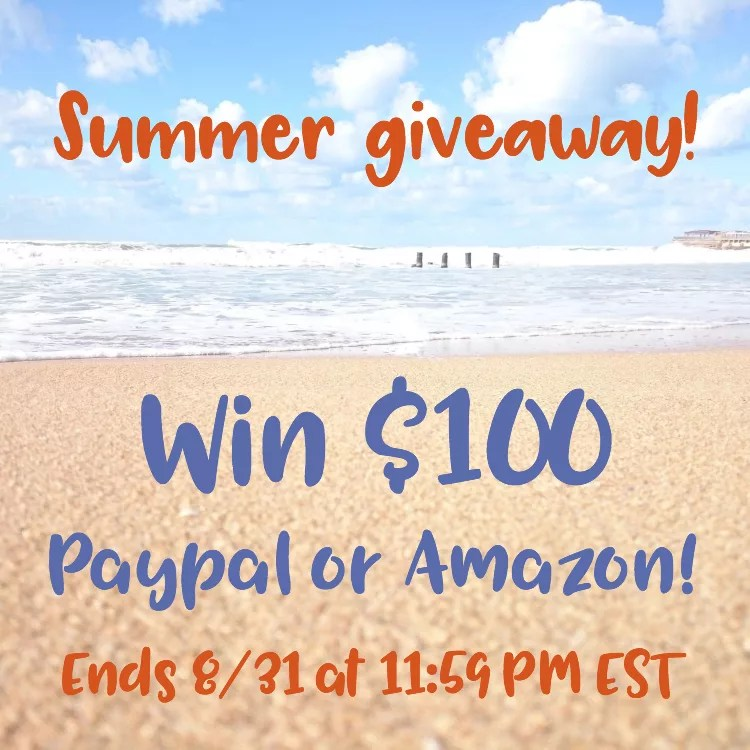 Enter to win $100 Paypal or Amazon