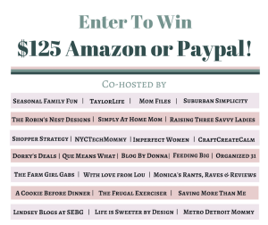 $125 Amazon or Paypal Giveaway!