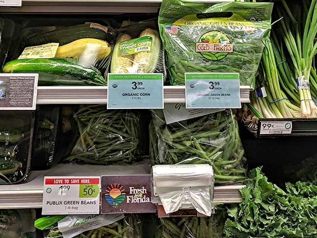 Vegetables labeled Fresh from Florida at Publix