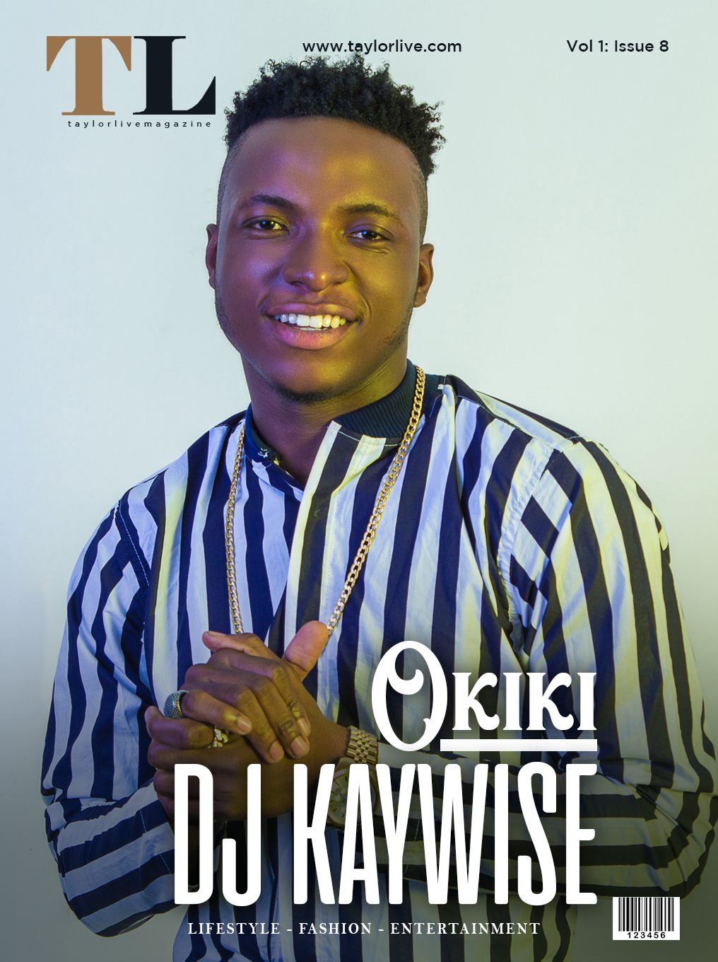 OKIKI! DJ KAYWISE Covers Taylor Live Magazine's Latest Issue