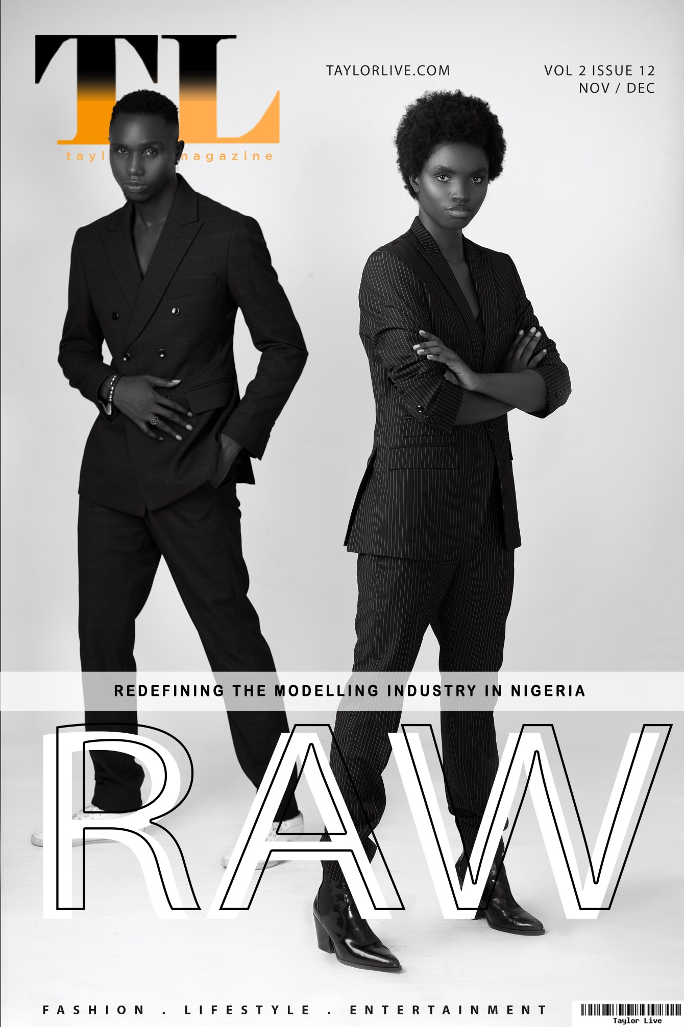 """""""RAW - REDEFINING THE MODELLING INDUSTRY IN NIGERIA"""" Taylor Live Magazine's Latest Issue (TLMagazine)"""