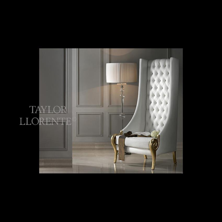 Luxury Very High Back Armchair Taylor Llorente Furniture