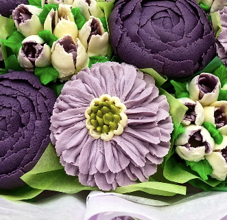 buttercream frosting Scabiosa, how to make buttercream frosting flowers