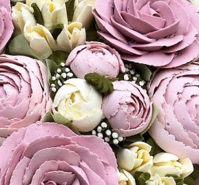 buttercream frosting mini peonies, how to make buttercream frosting flowers