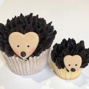 how to make hedgehog cupcakes