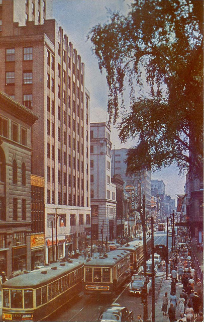 An earlier view of Ste-Catherine's facing West from Union - not the work of the author.