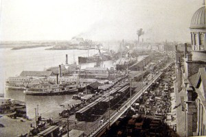 Port of Montreal from Bonsecours Market ca. 1900