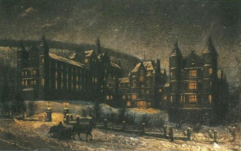 Royal Victoria Hospital in Winter