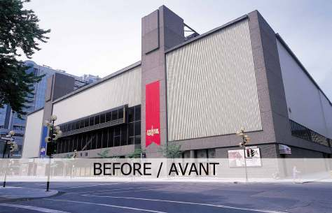 The Montreal Forum, as it appeared in 1996 prior to its conversion into architectural diarrhoea