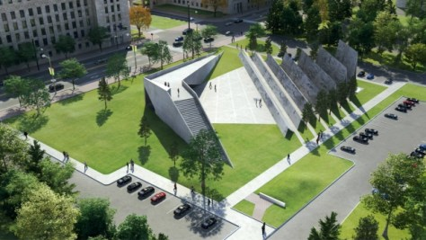 Victims of Communism monument original design conceptual rendering
