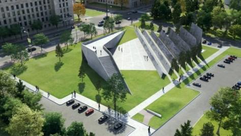 Victims of Communism monument original design conceptual rendering