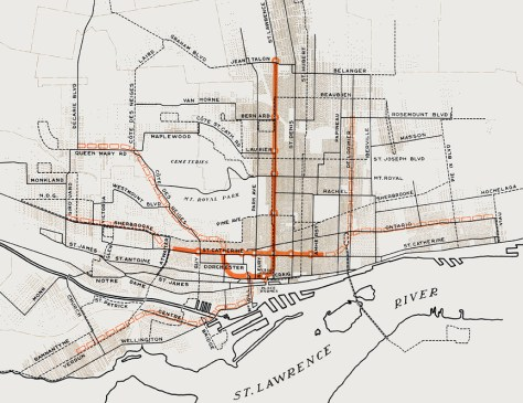 The 1944 subway plan for Montreal