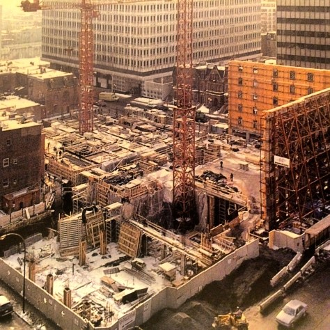 Desmarais Pavilion under construction - 1989