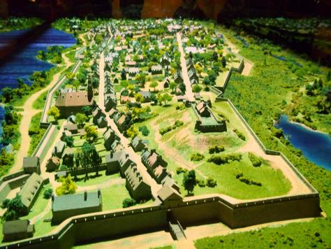Model of Montreal around 1760 (not my own work)