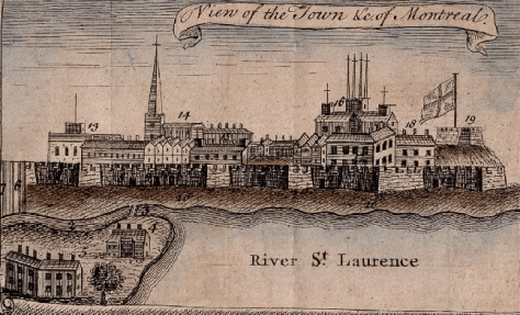 A perspective of Montreal circa. 1758