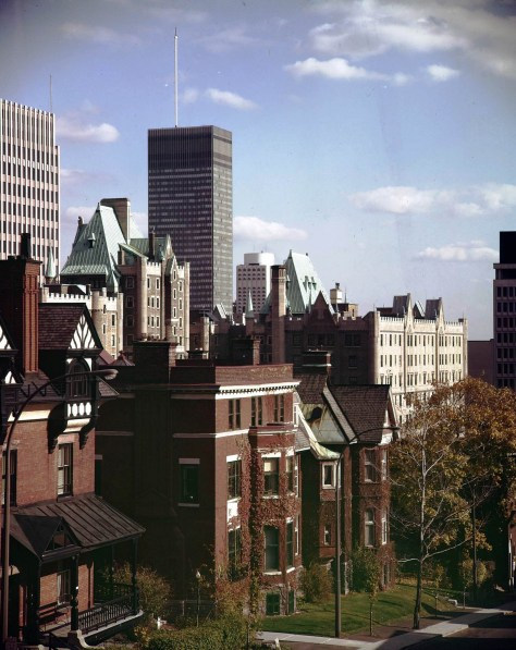 Downtown viewed from Avenue du Musée - date and photographer unknown; ca. 1970s