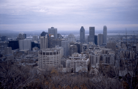 Montreal from the Belvedere, November 4th 1992 (credit to John Steedman)