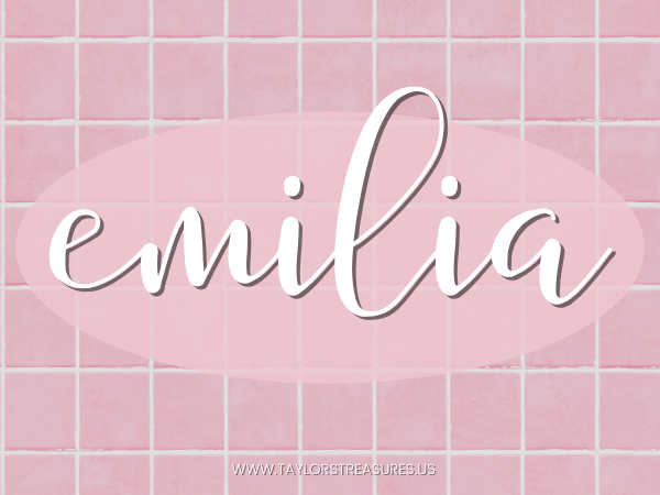 4-5 syllable girl names - Emilia
