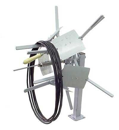 LR100-99 - Collapsible 12 inch I.D. Reeler Coiler - Open
