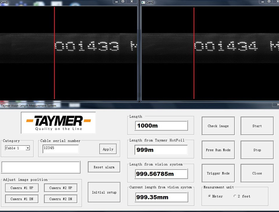 cable print length verification system
