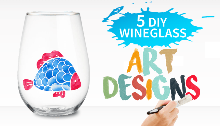 diy wineglass art design