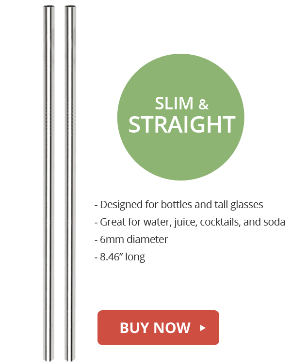 slim and straight reusable straws