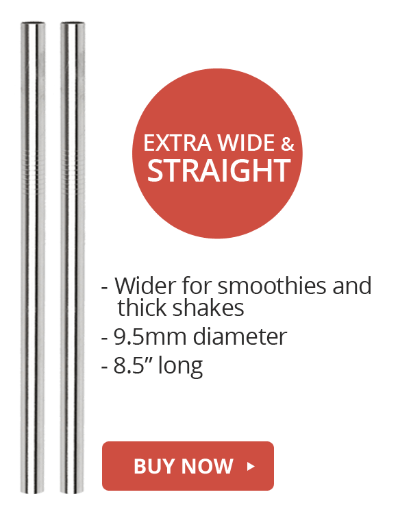wide straight stainless steel straws