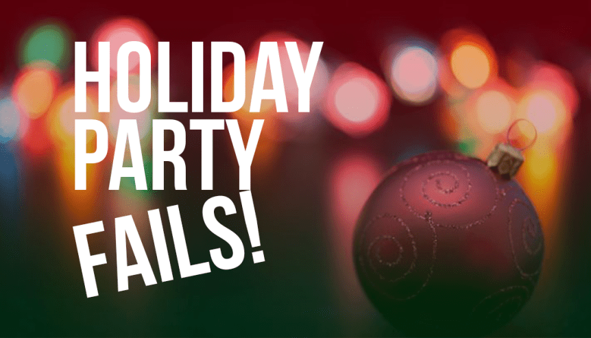 office holiday party fails