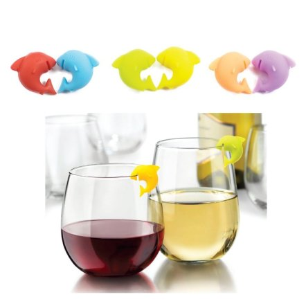 shark markers stemless wineglasses