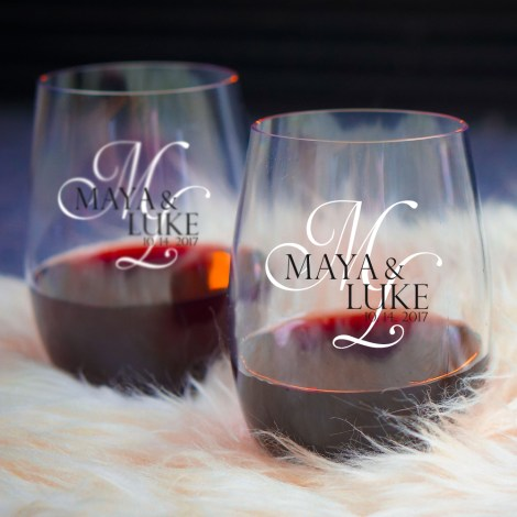 printing on wine glasses custom