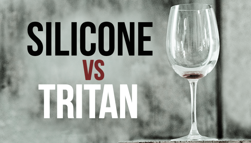 Silicone wine glasses vs Tritan