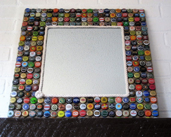 bottle cap mirror on Etsy